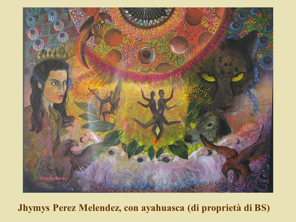 Jhymys Perez Melendez, con ayahuasca (di proprietà di BS)