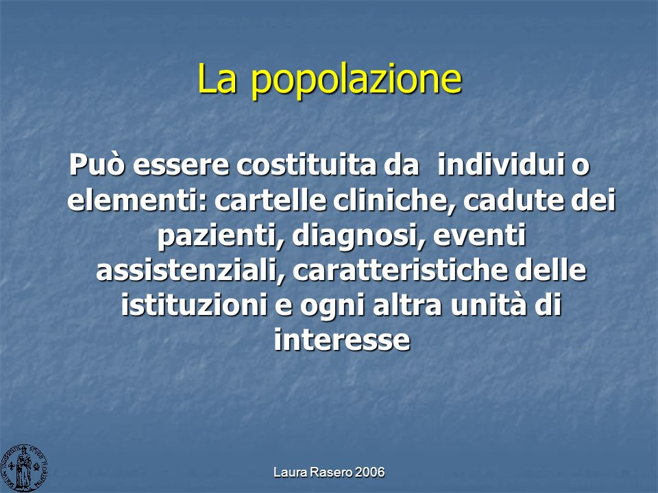 La popolazione