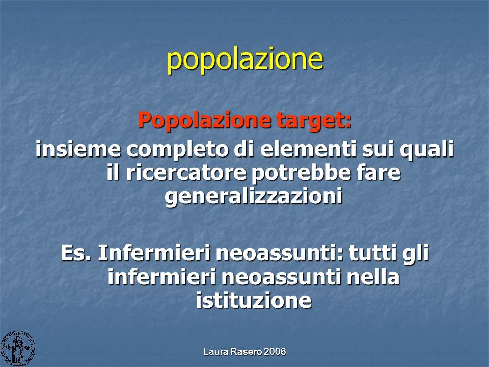 popolazione Popolazione target:
