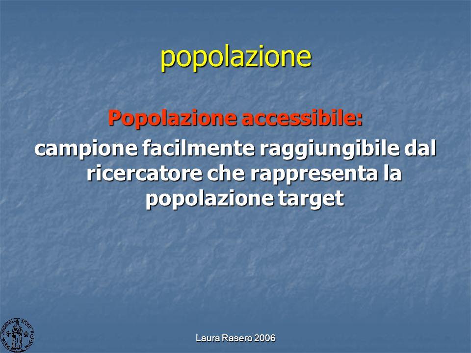 Popolazione accessibile: