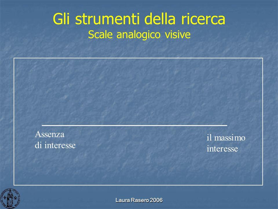 Gli strumenti della ricerca Scale analogico visive