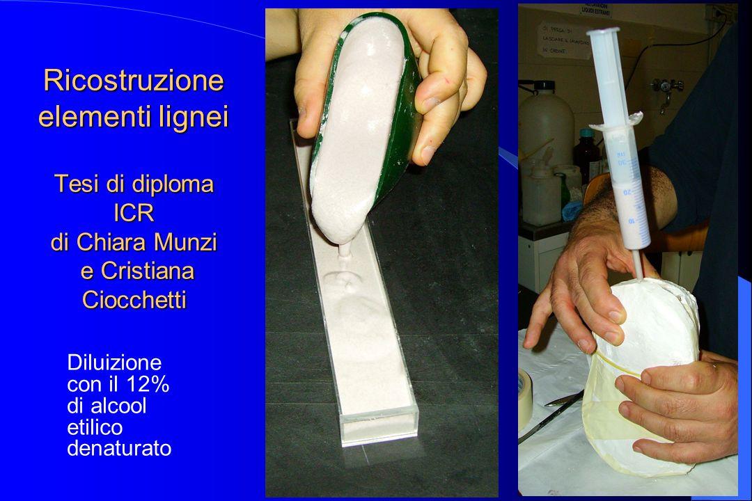 Ricostruzione elementi lignei Tesi di diploma ICR di Chiara Munzi e Cristiana Ciocchetti