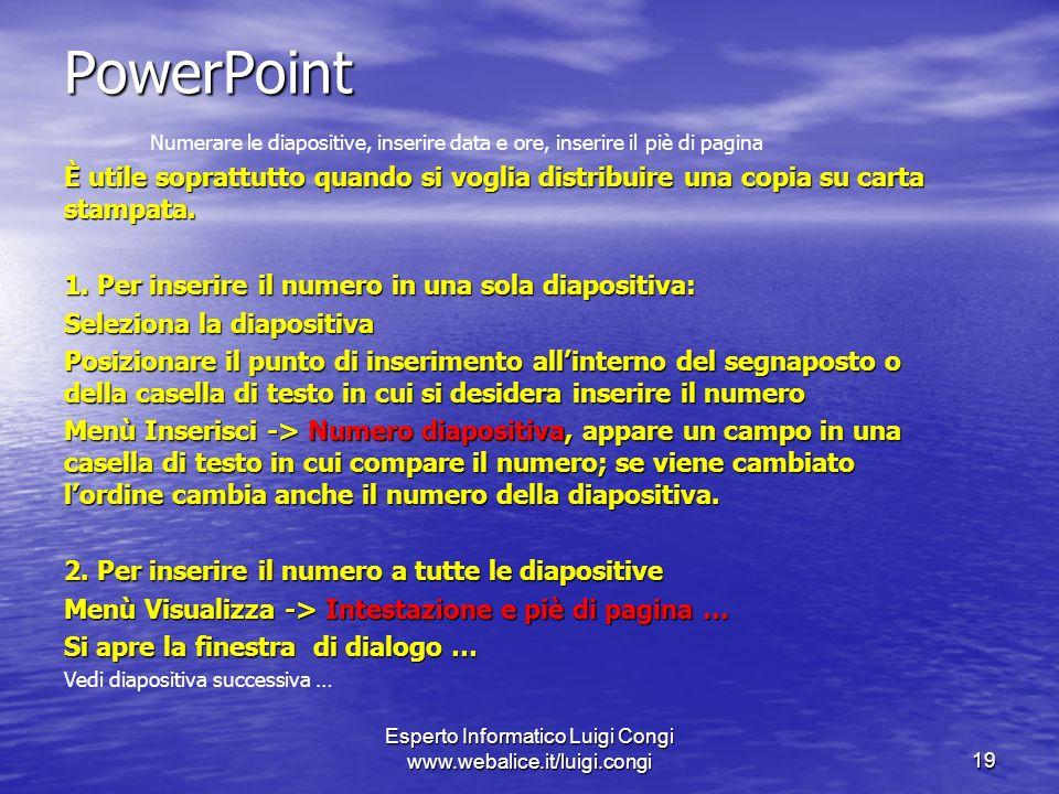Esperto Informatico Luigi Congi www.webalice.it/luigi.congi
