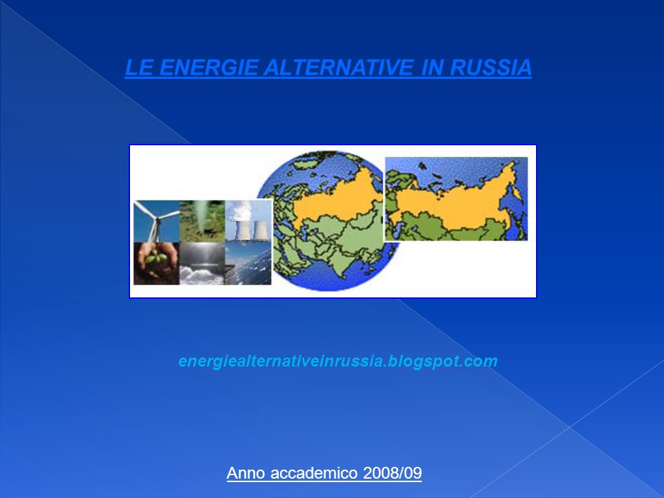 LE ENERGIE ALTERNATIVE IN RUSSIA