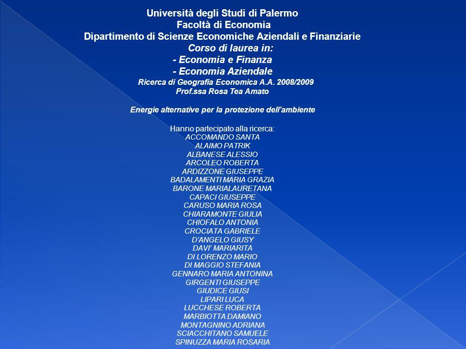 Università degli Studi di Palermo Facoltà di Economia