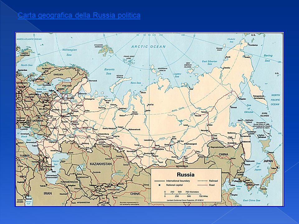 Carta geografica della Russia politica