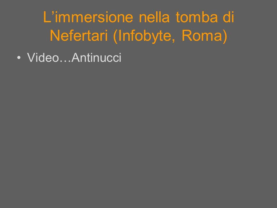 L'immersione nella tomba di Nefertari (Infobyte, Roma)