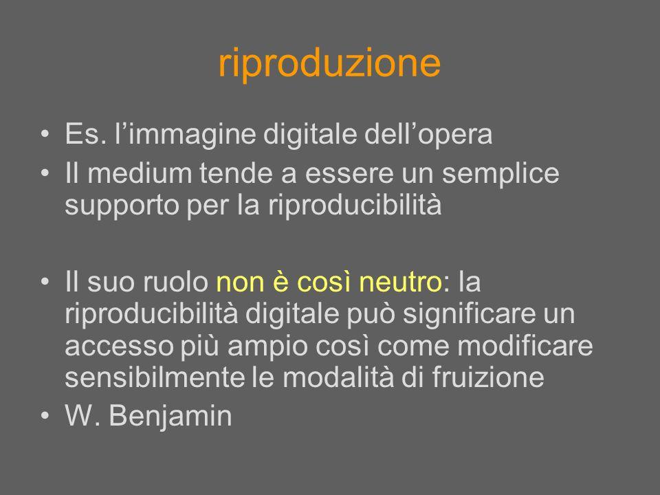 riproduzione Es. l'immagine digitale dell'opera