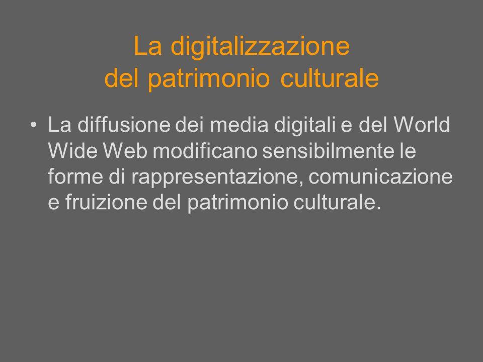 La digitalizzazione del patrimonio culturale