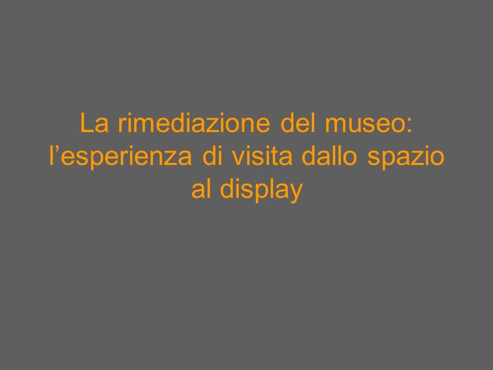 La rimediazione del museo: l'esperienza di visita dallo spazio al display