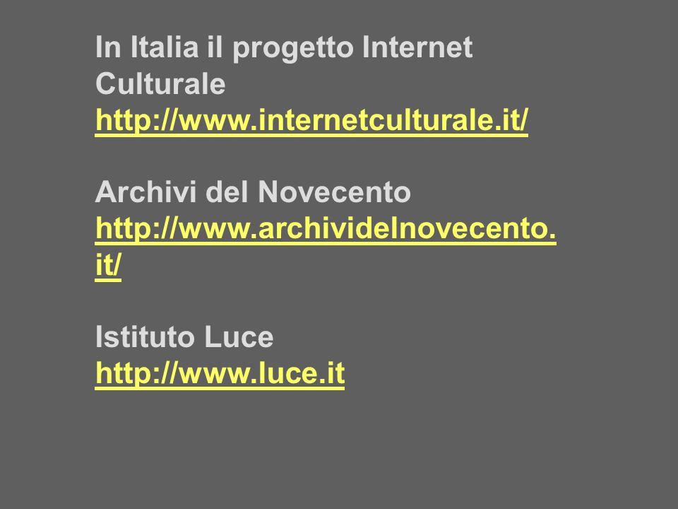 In Italia il progetto Internet Culturale