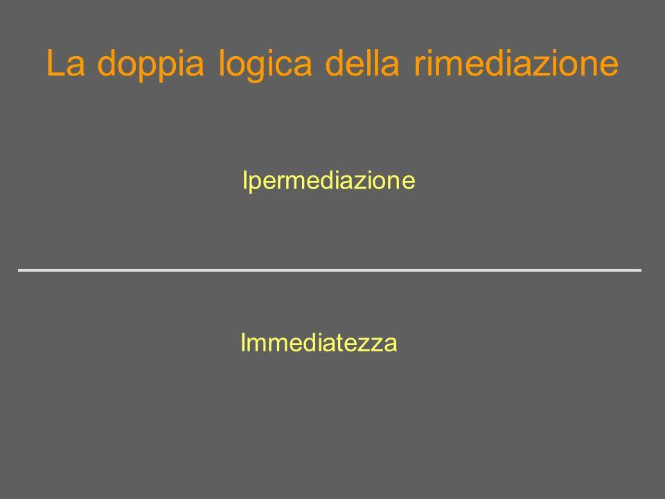 La doppia logica della rimediazione