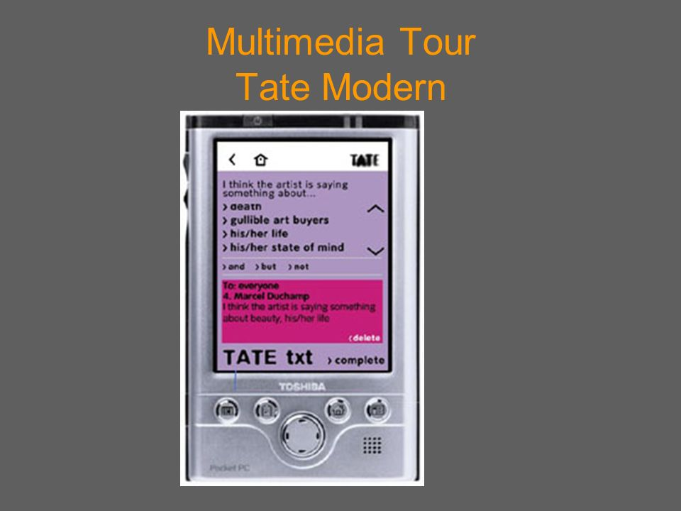 Multimedia Tour Tate Modern
