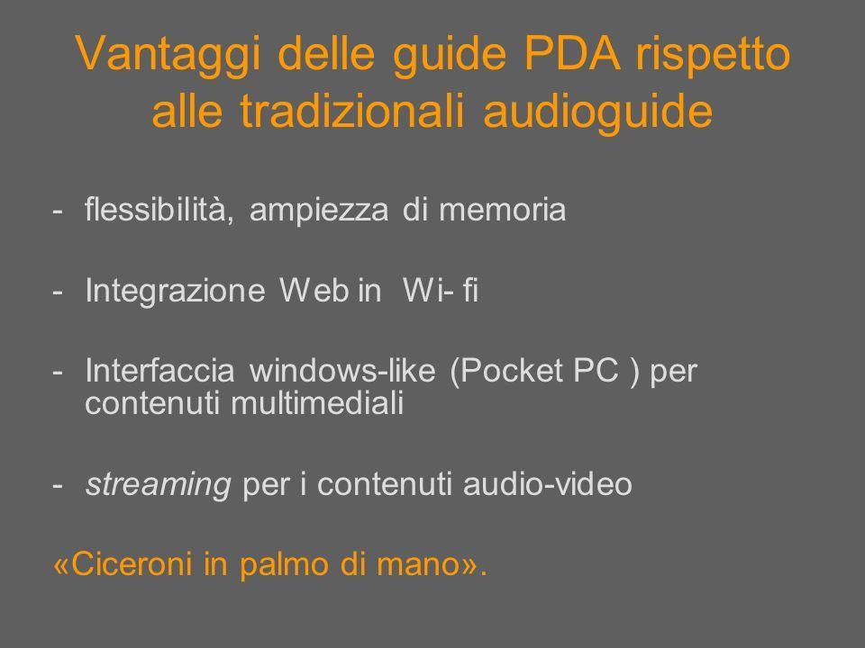 Vantaggi delle guide PDA rispetto alle tradizionali audioguide