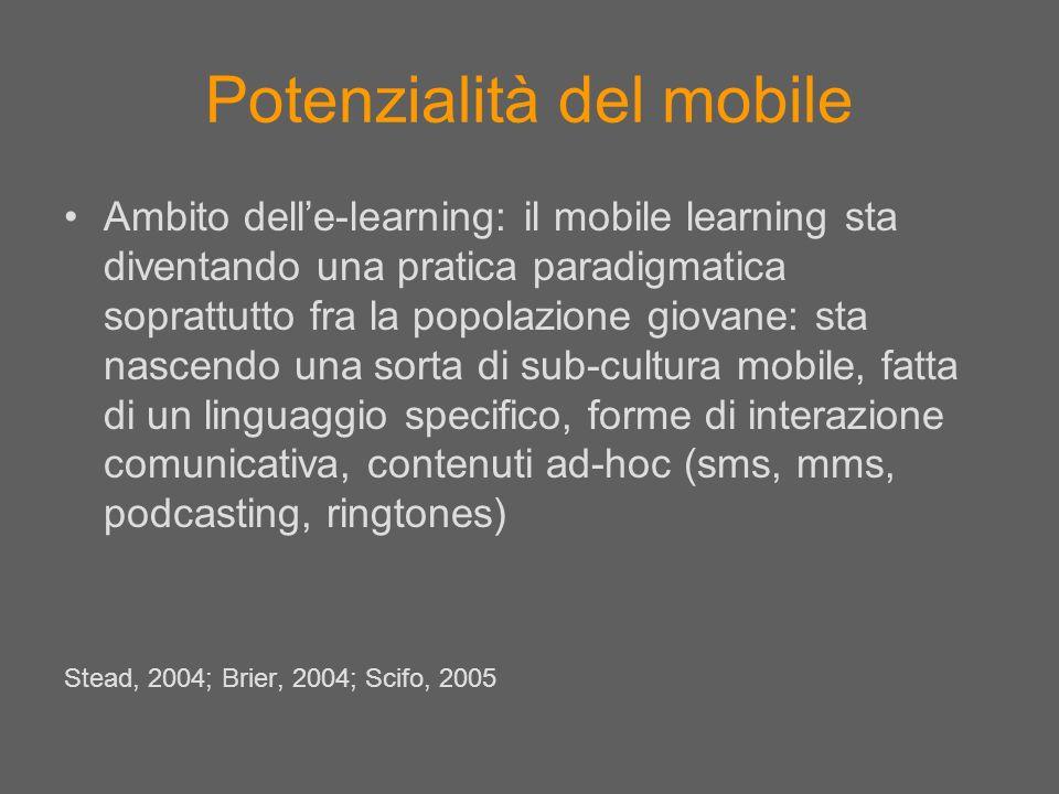 Potenzialità del mobile