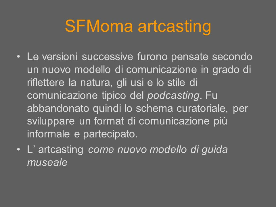 SFMoma artcasting