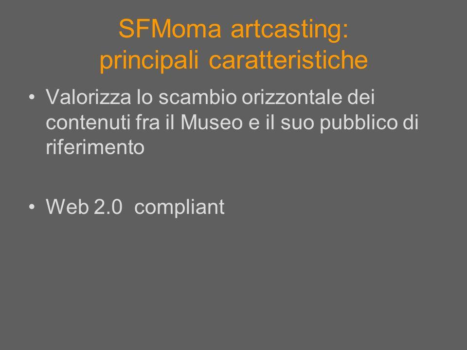 SFMoma artcasting: principali caratteristiche