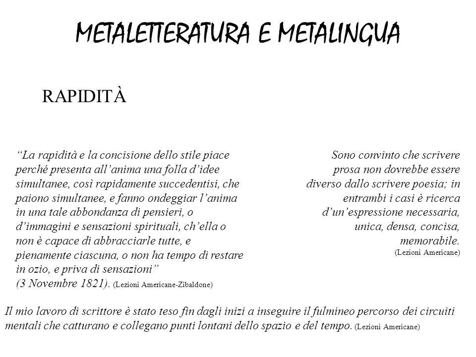 METALETTERATURA E METALINGUA