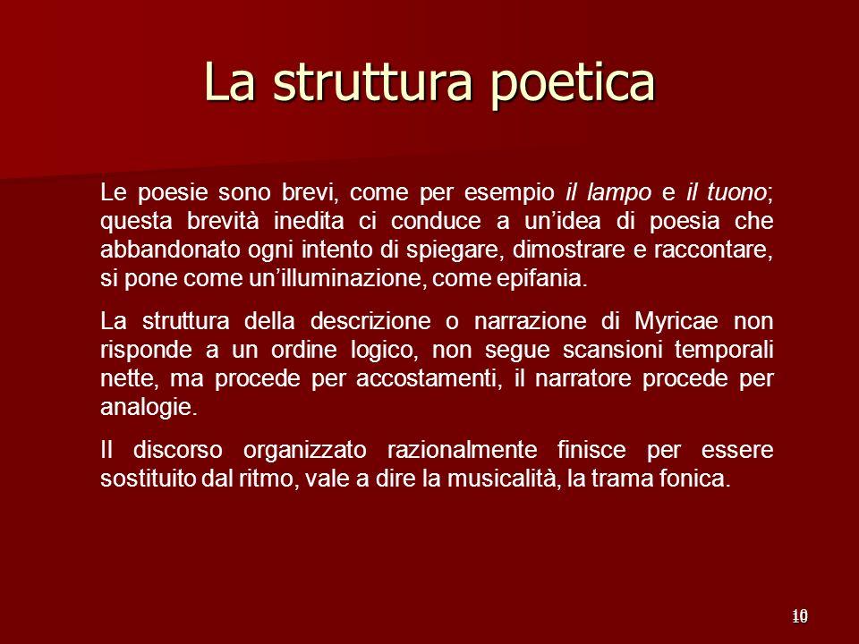 La struttura poetica