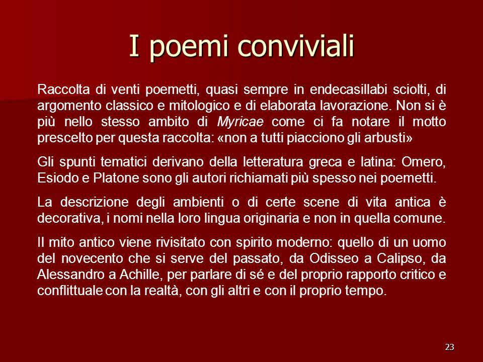 I poemi conviviali