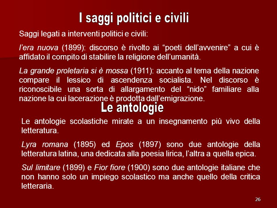 I saggi politici e civili
