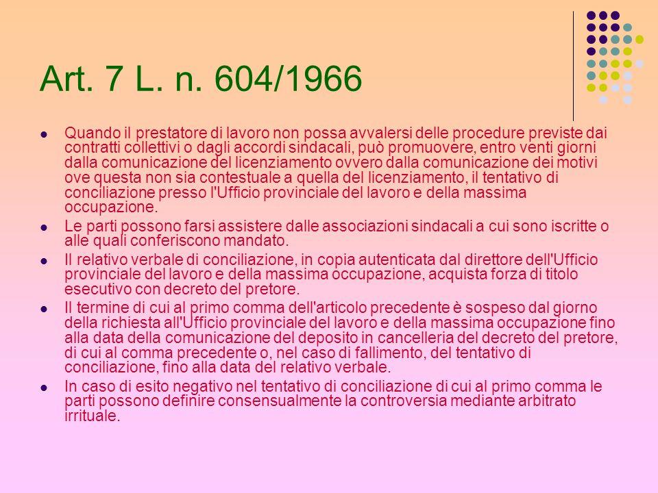 Art. 7 L. n. 604/1966