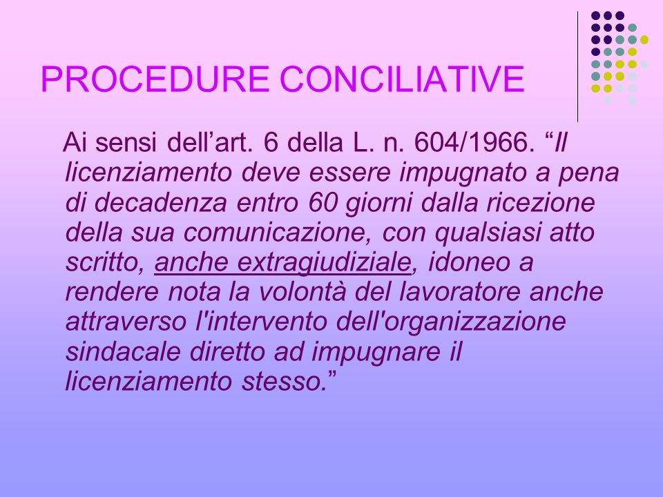 PROCEDURE CONCILIATIVE