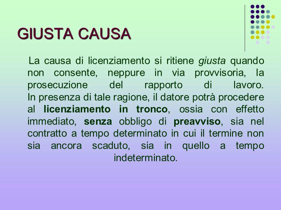 GIUSTA CAUSA