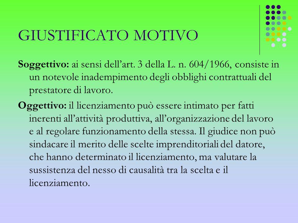 GIUSTIFICATO MOTIVO