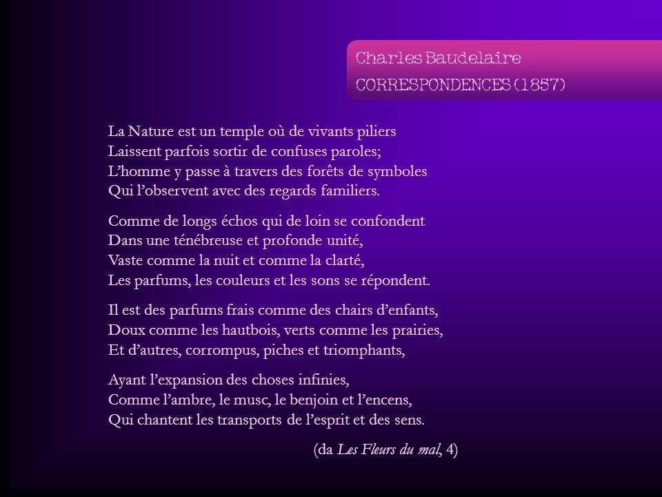Charles Baudelaire CORRESPONDENCES (1857)