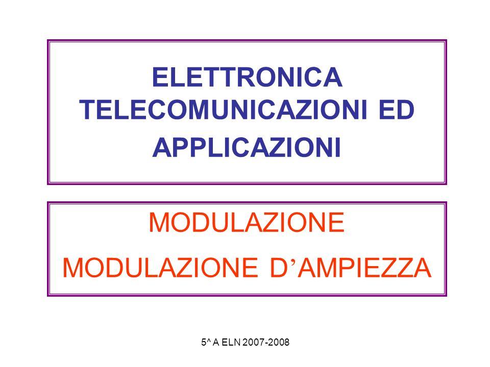 ELETTRONICA TELECOMUNICAZIONI ED APPLICAZIONI