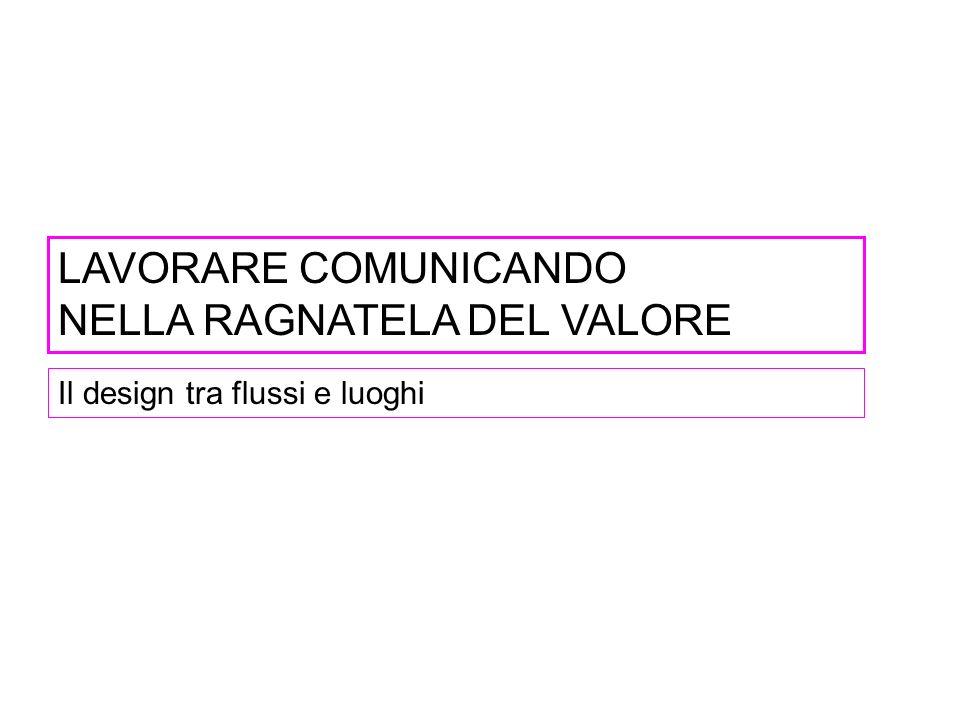 LAVORARE COMUNICANDO NELLA RAGNATELA DEL VALORE