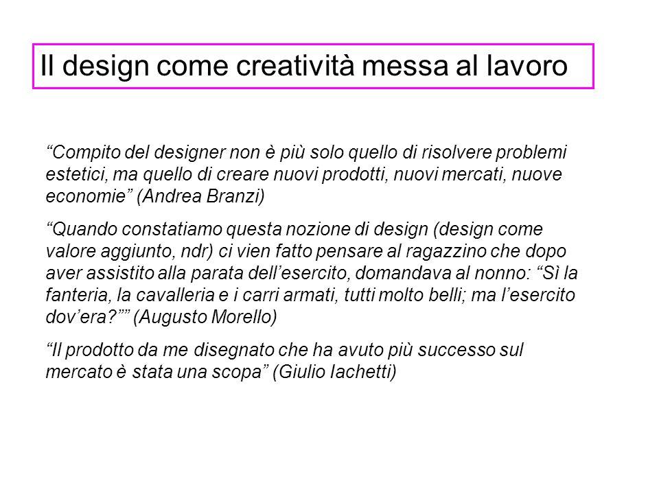 Il design come creatività messa al lavoro