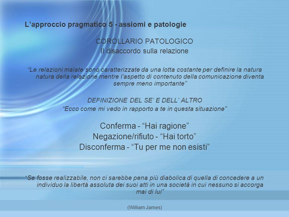 L'approccio pragmatico 5 - assiomi e patologie
