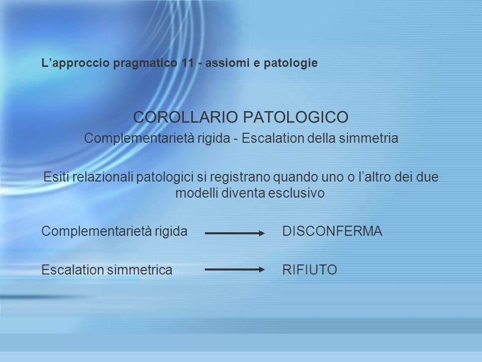 L'approccio pragmatico 11 - assiomi e patologie
