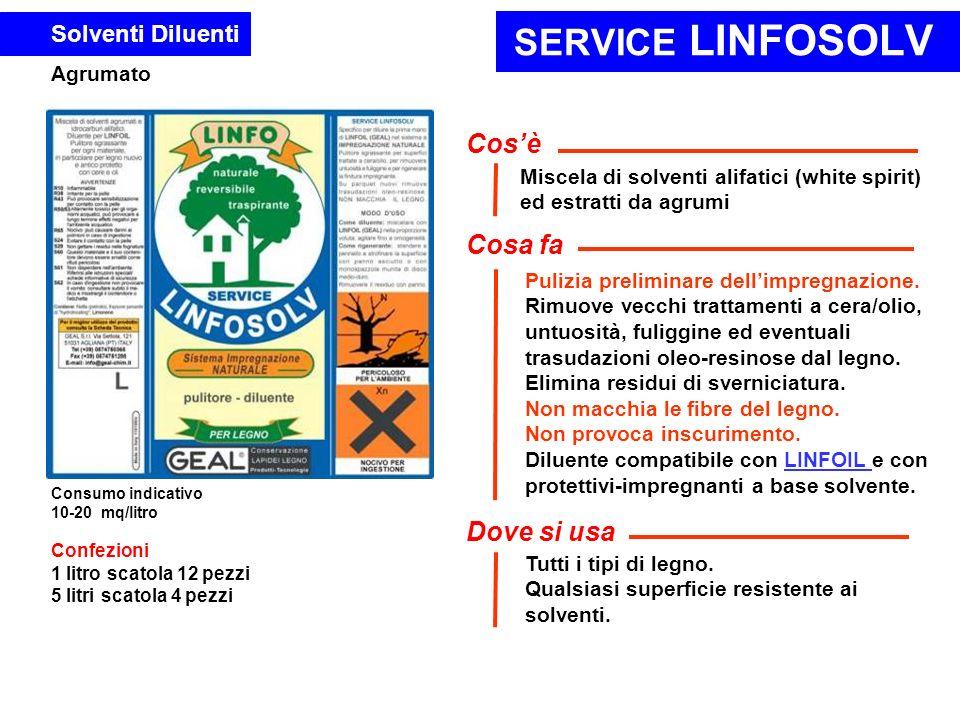 SERVICE LINFOSOLV Cos'è Cosa fa Dove si usa Solventi Diluenti Agrumato