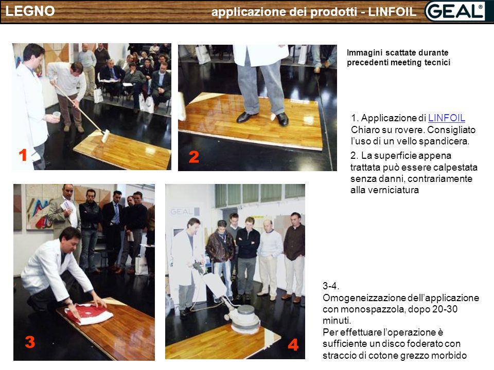 1 2 3 4 LEGNO applicazione dei prodotti - LINFOIL