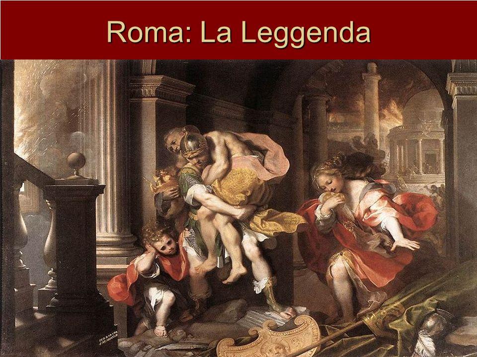 Roma: La Leggenda I Gemelli Romolo e Remo (discendenti del troiano Enea) figli di Marte e Rea Silvia allevati da una lupa.