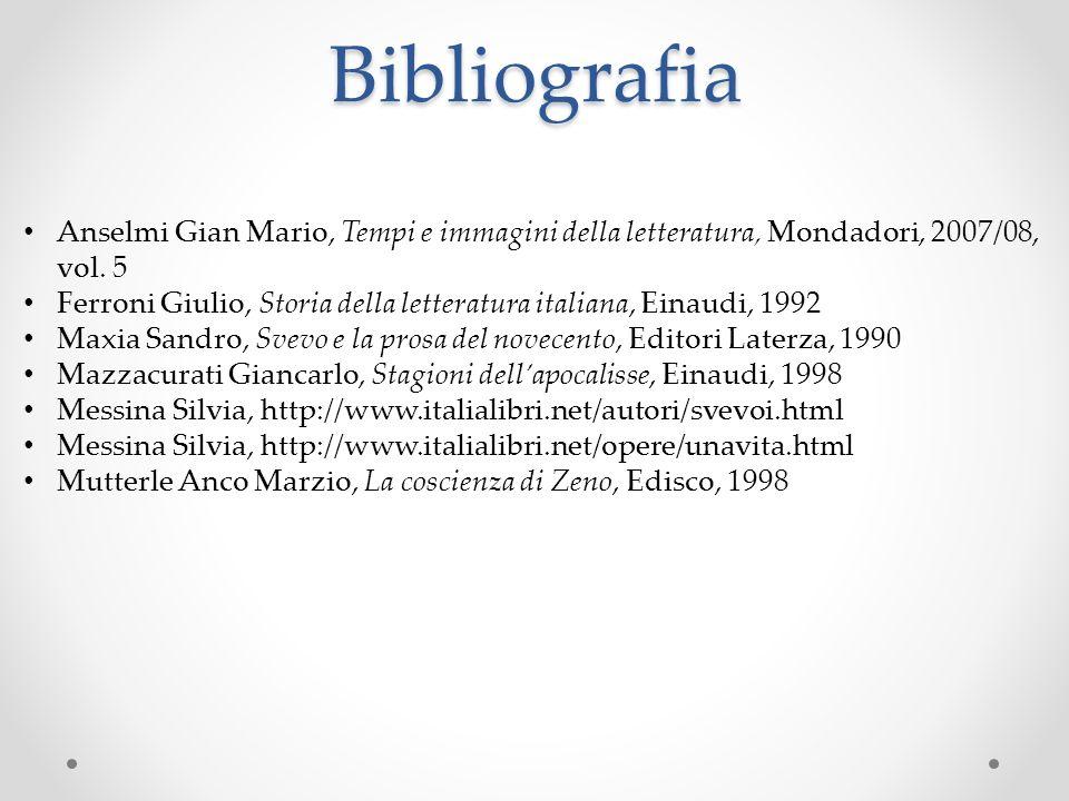 Bibliografia Anselmi Gian Mario, Tempi e immagini della letteratura, Mondadori, 2007/08, vol. 5.