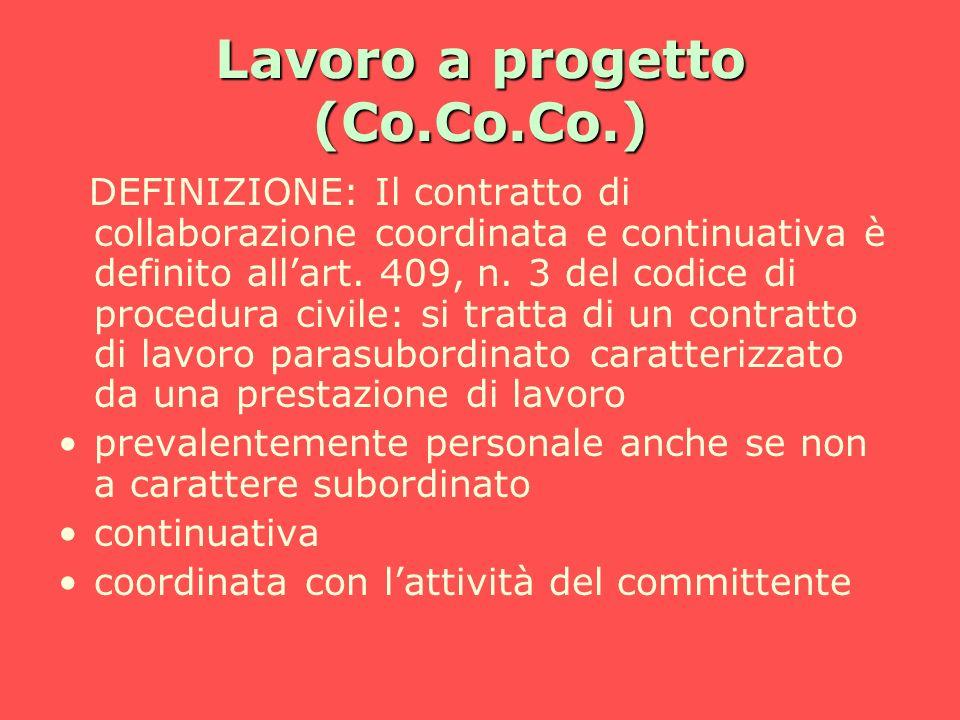 Lavoro a progetto (Co.Co.Co.)