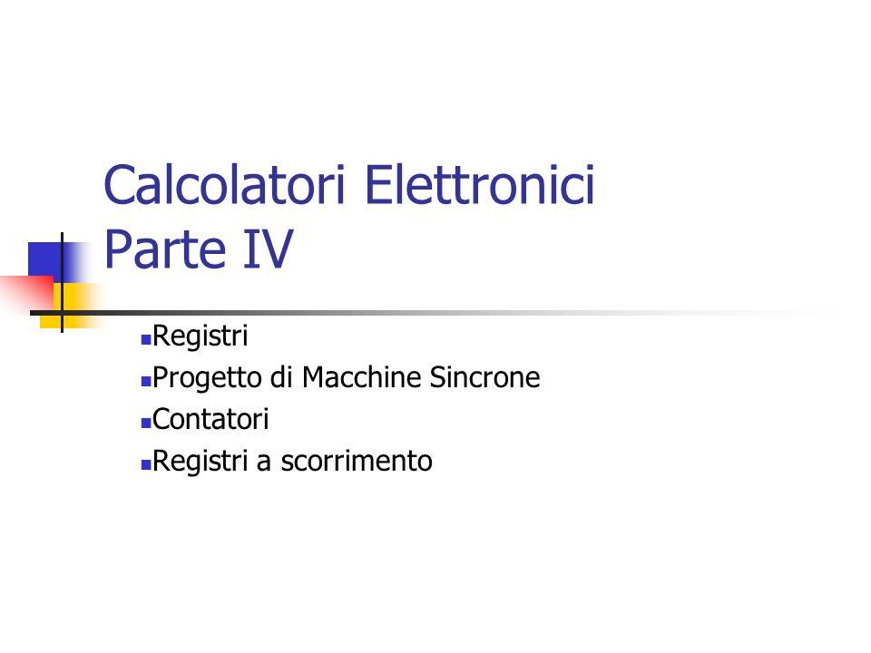 Calcolatori Elettronici Parte IV
