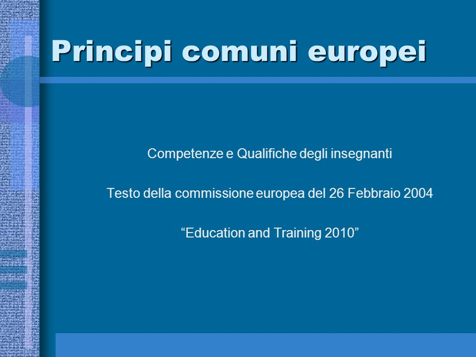 Principi comuni europei