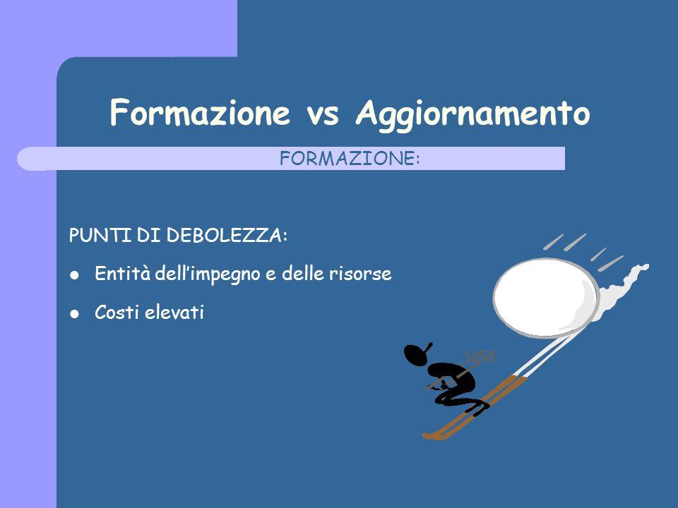 Formazione vs Aggiornamento