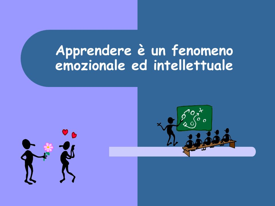 Apprendere è un fenomeno emozionale ed intellettuale