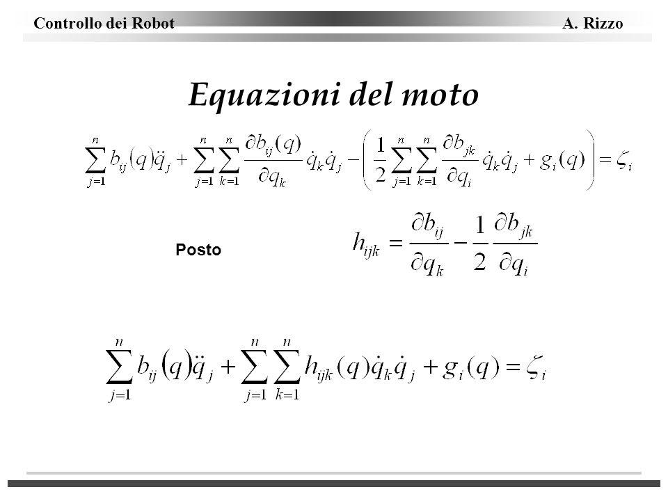 Equazioni del moto Posto