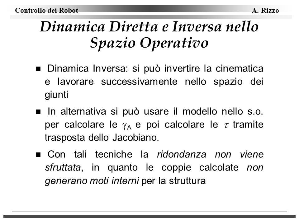 Dinamica Diretta e Inversa nello Spazio Operativo