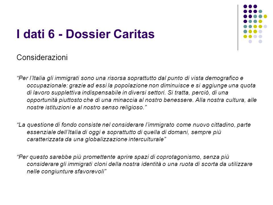 I dati 6 - Dossier Caritas