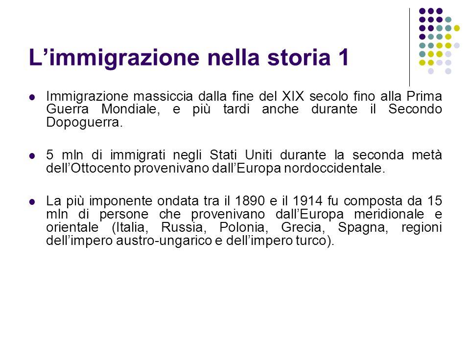 L'immigrazione nella storia 1