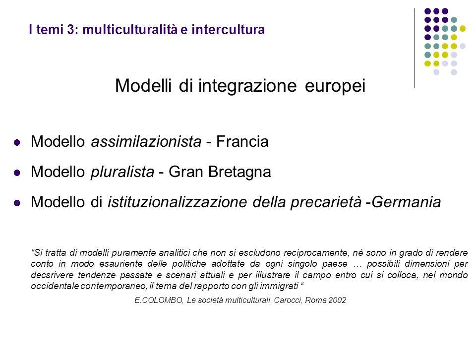 I temi 3: multiculturalità e intercultura