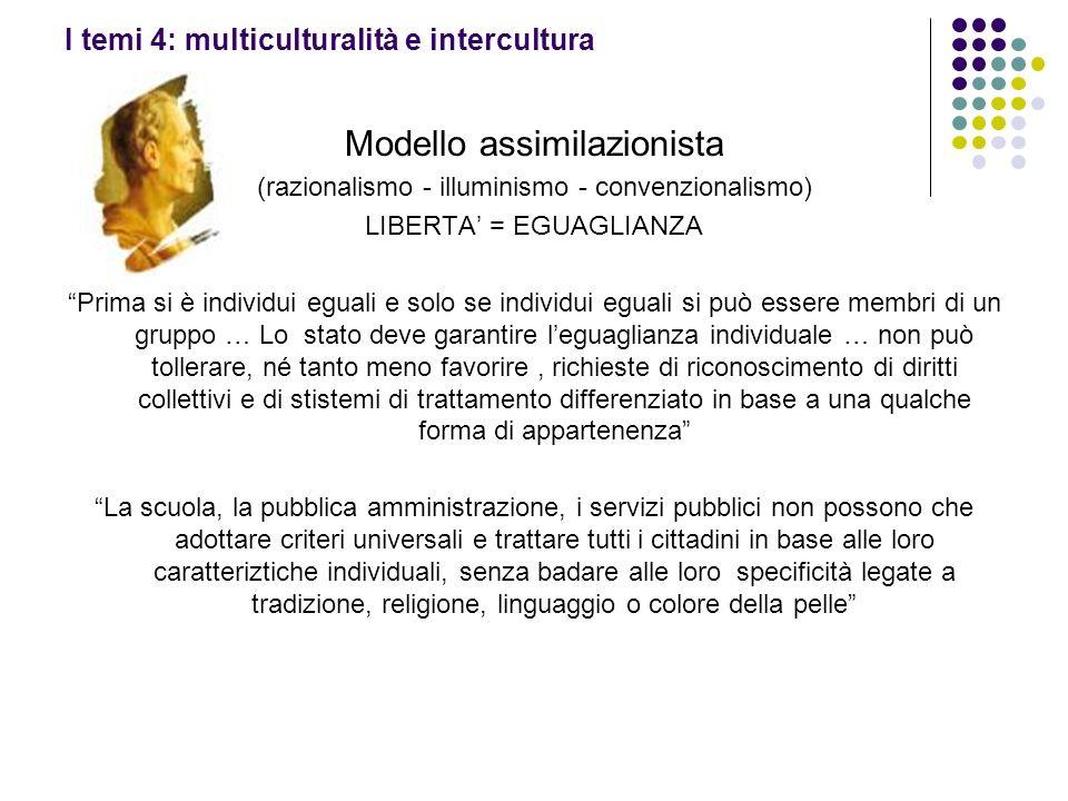 I temi 4: multiculturalità e intercultura
